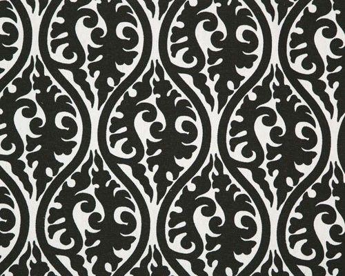 black and white fabric design
