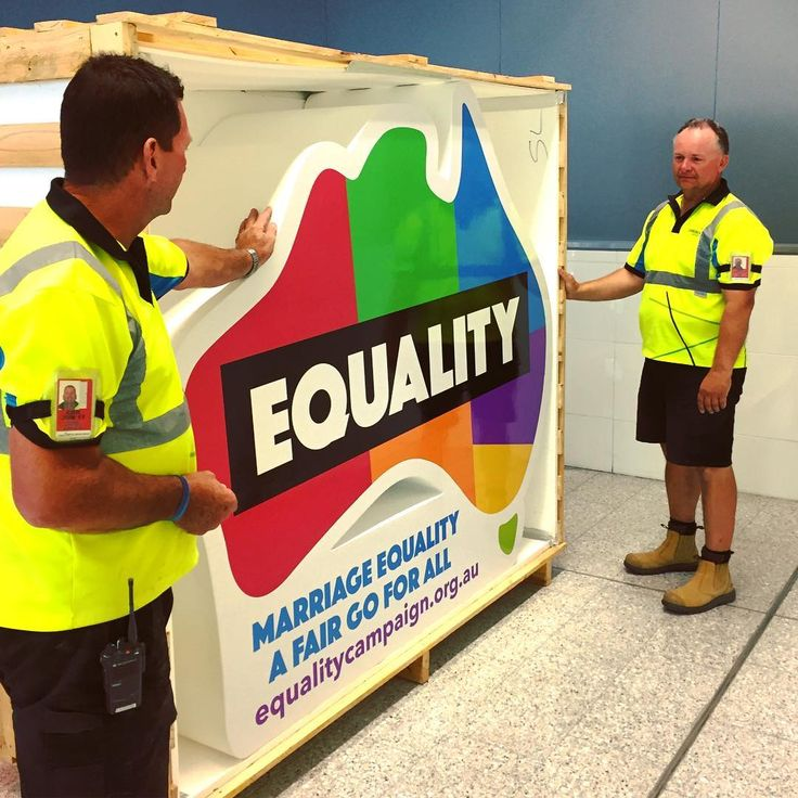 The magical uncrating of our new, freestanding logo plinth created for @amequality. Pleased as punch to be able to make this for such an important cause. . .  #australians4equality #marriageequality #loveislove #love #canberra #cbr #canberraairport #visitcanberra #australia #sky #act #travel #flight #international #aviation #tourism #instatravel #instagood #photooftheday #trip #design #eventplanner #graphic #handmade #setdesign