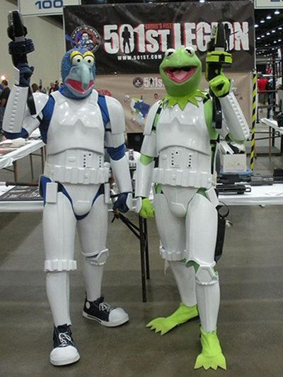 Humm something seems a bit off about these two storm troopers.