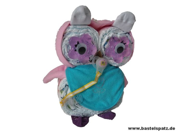 owl diaper cake instructions