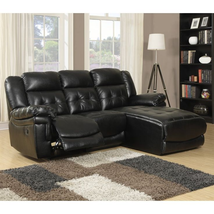 Monarch Leather Reclining Sofa Lounger - I 8186