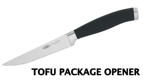 "19 Signs You've Been Vegan Too Long ~ ""You don't realize that most people call these Tofu Package Openers 'steak knives.'"""