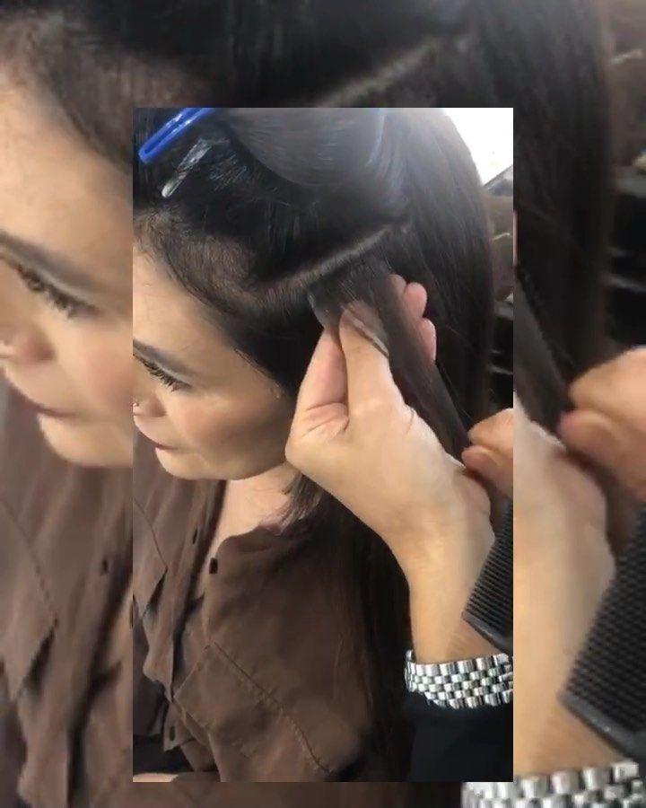The Process Of Extensions Wunderschone Haarverlangerung Verdichtung Mit Hairstripes 100 Echt Haar Schonende Methode Naturlich Dream Hair Hair Ear Cuff