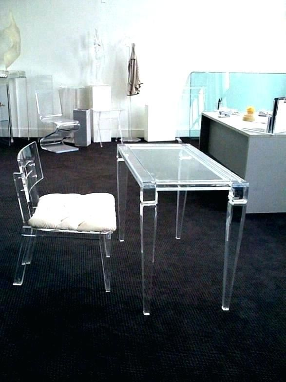 Clear Office Desk Colored Glass Acrylic Desk Mat Acrylic Desk