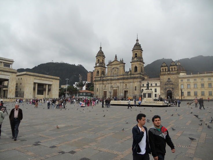Plaza de Bolivar, the main square in Bogota.