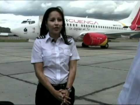 TRAVEL UNIT Mujer Piloto talks about her interest in becoming a pilot. Cuenca, Ecuador