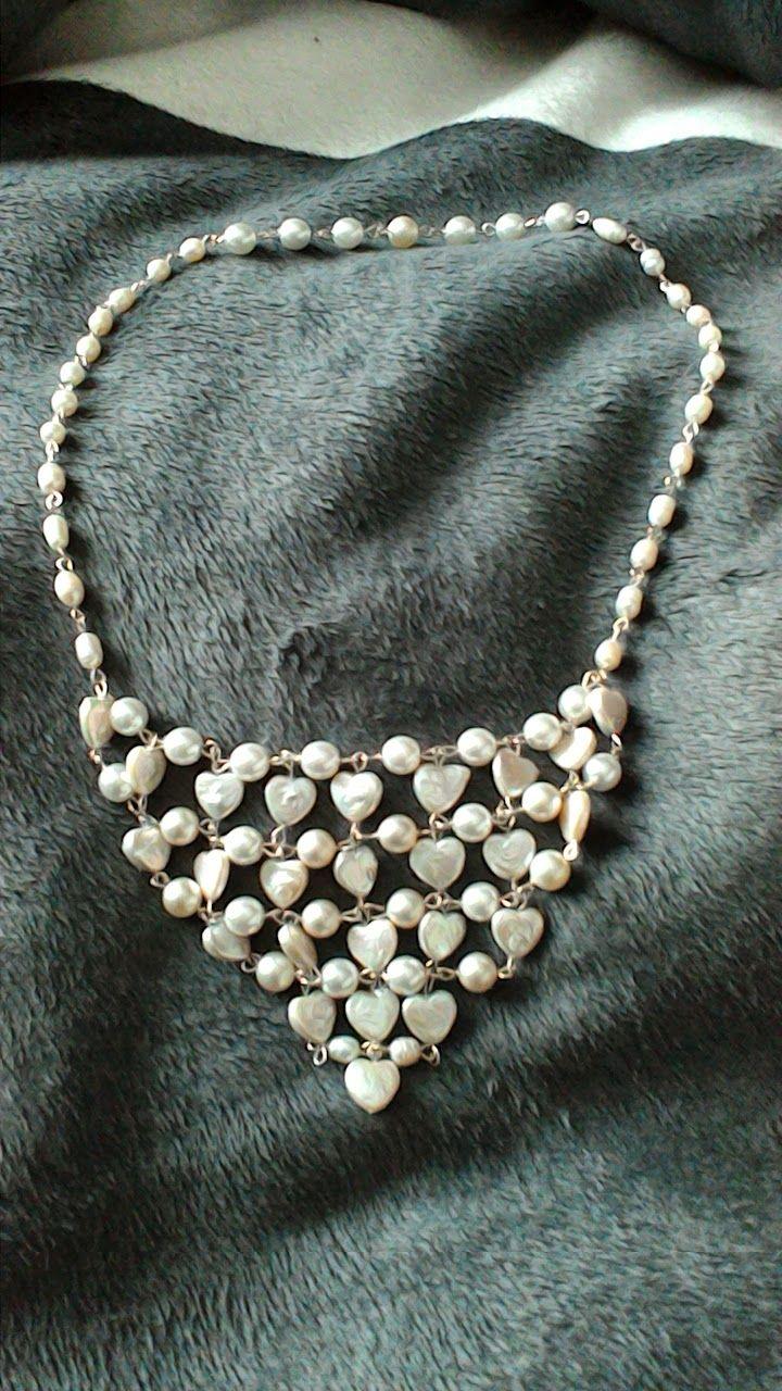 Pärlor och Pyssel: Halsband gjort av snäckskals hjärtan!