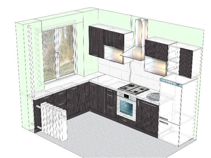дизайн кухни в хрущевке: 7