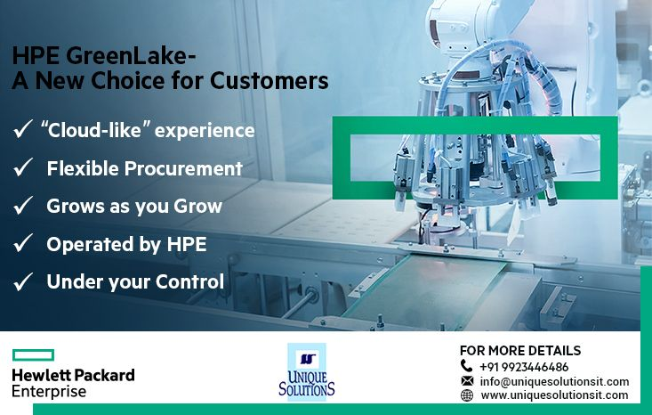 Hpe Greenlake Simplifies The It Experience And Offers Customers Choice In Where Workloads Should Live And How To Flexi Customer Choice Infrastructure Solutions