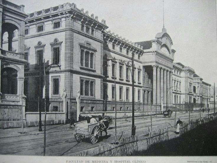 Aquí es otra foto del Hospital Clínic de Barcelona. La foto fue tomada en año 1900.