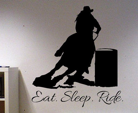 Eat Sleep Ride Barrel Racing Horse Vinyl Wall by designstudiosigns, $40.00