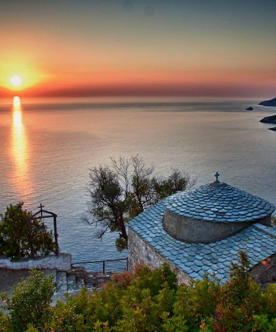Serene sunset.. Ag. Anargyroi, Alonnisos Island, Greece | by George Galanis