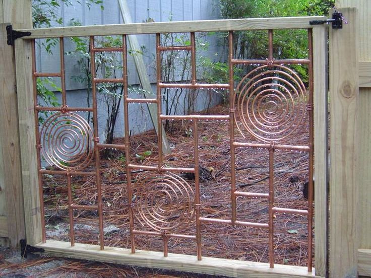 trellis craft book copper garden gate
