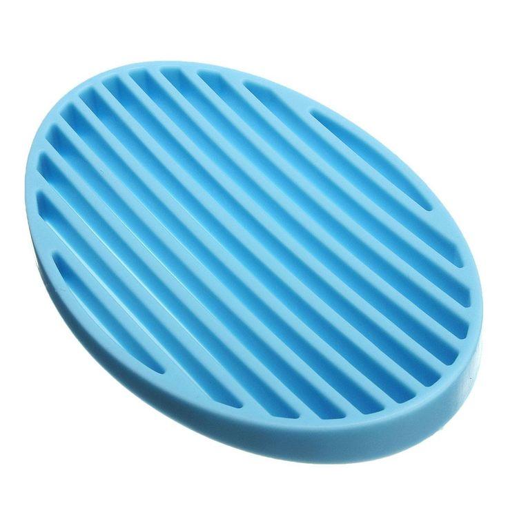Lnhf 5 шт./лот практическая мода силиконовые главная ванная комната гибкая мыльница пластины мыльница мыльница синий