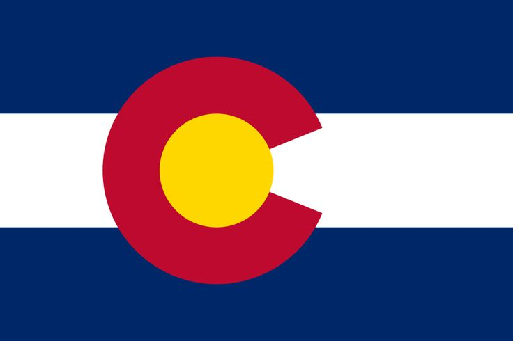 Colorado Flag colors - about Colorado State Flag meaning/history