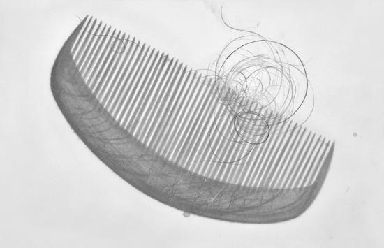 梳子 179x116cm  宣纸水墨  2016年