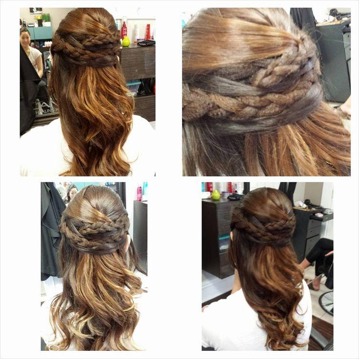 Half up, half down with braids! #hair Studio, Oshawa, Ontario