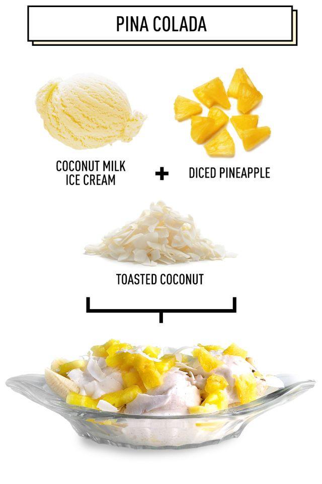 Pina Colada: 5 Amazing Breakfast Banana Splits