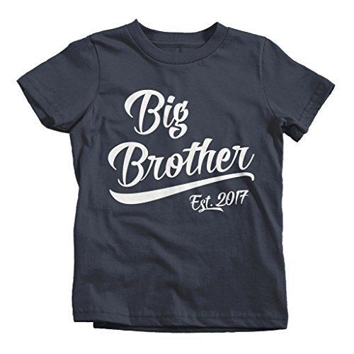 Shirts By Sarah Boy's Big Brother Est. 2017 T-Shirt Promoted To T-Shirt - Black / 2T - 2