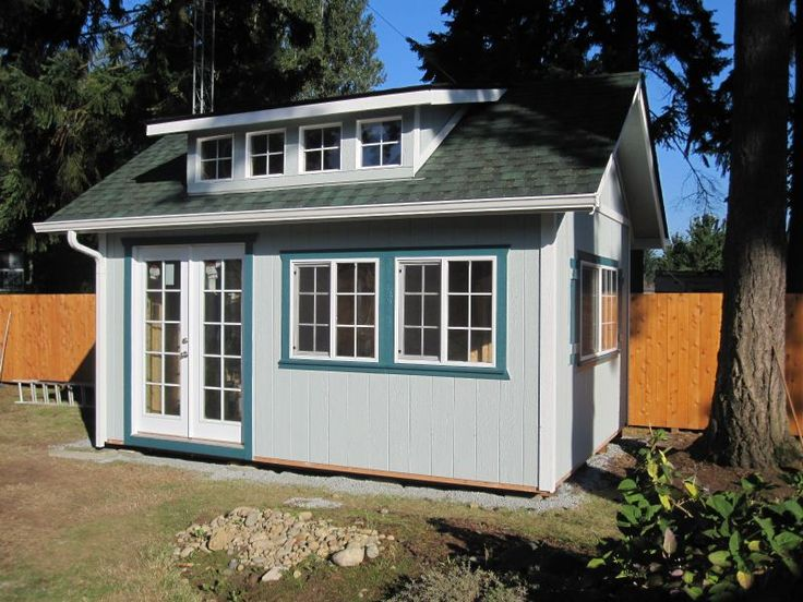 Heritage style with dormer and 60 in french door custom for Garden shed 2 rooms