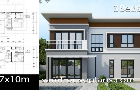 House Plans Idea 10 7 With 3 Bedrooms In 2020 House Plans Bedroom House Plans Small Modern House Plans