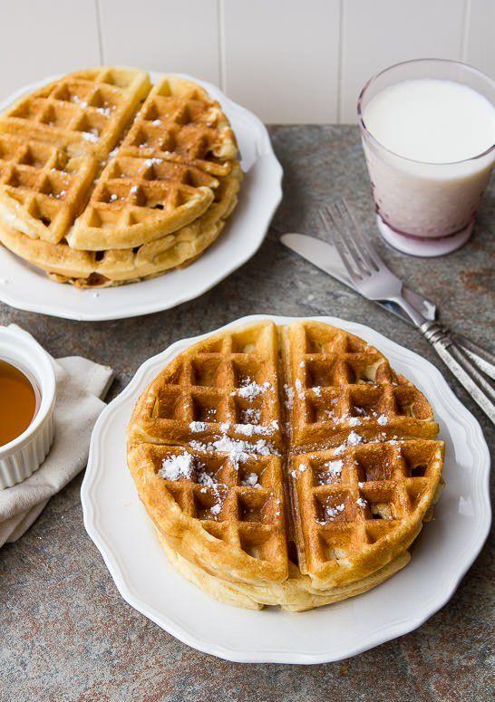 homemade waffle batter