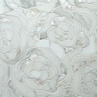 Chrysanthemum Calacatta Gold With Mother Of Pearl - eclectic - bathroom tile - by Artistic Tile