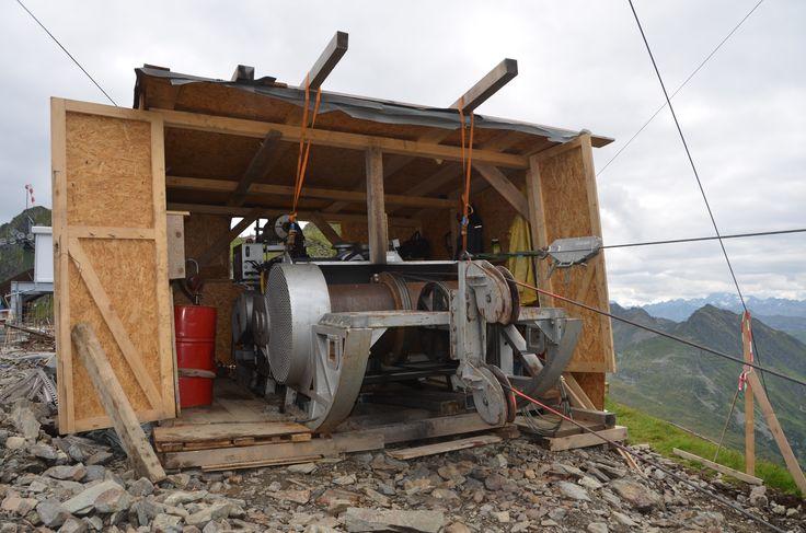 Motor für die Materialseilbahn #silvrettamontafon #panoramabahn