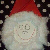 Julemand af paptallerken, som selv de mindste kan være med til at lave.