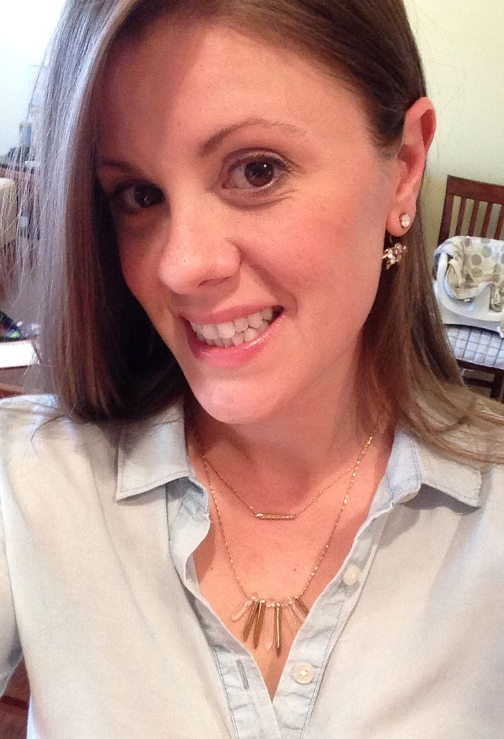 Easy way to dress up a button up we all already have in our closet!  Rebel Cluster Necklace in gold and Eva Ear Jacket.
