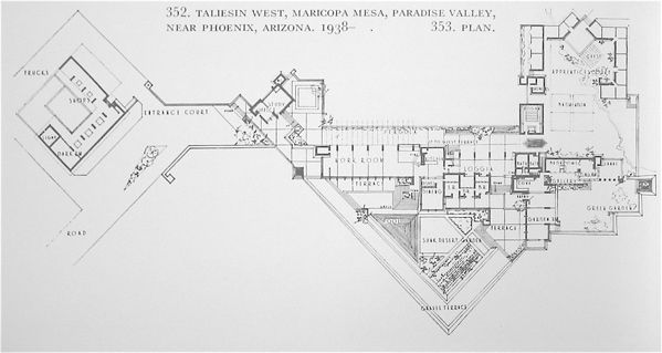 Taliesin West Floor Plan Frank Lloyd Wright A Piece Of