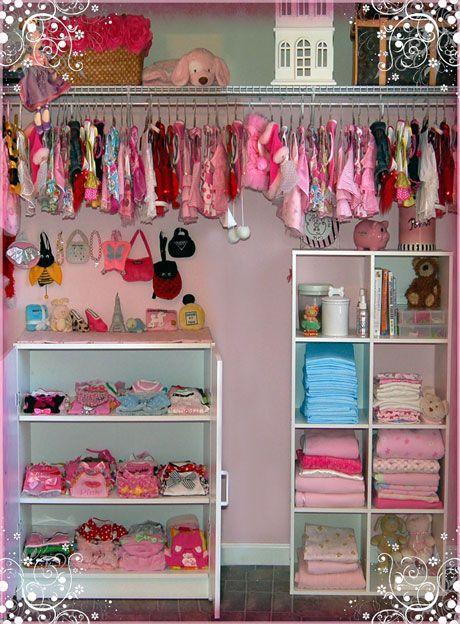 Wow look at Little Paris Noel's closet