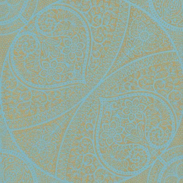 Yasamin Teal Mehndi Medallion | Wallpaper Warehouse