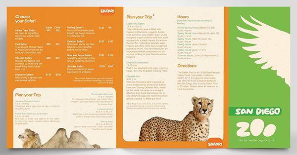san diego zoo brochure on behance