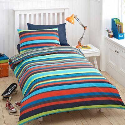 bluezoo Kid s blue  bright stripe  bedding set  at Debenhams ie. 8 best kids images on Pinterest   Bedding sets  Bedroom d cor and