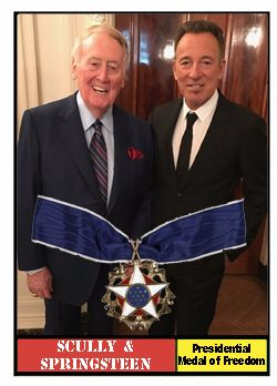 Vin Scully's Big Day -- Presidential Medal of Freedom Fantasy Baseball Cards