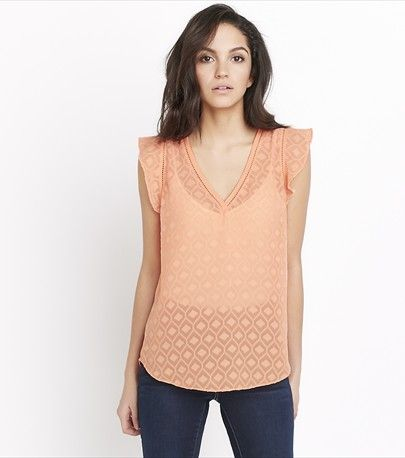 Sheer Flutter Sleeve Tee, just in time for Spring