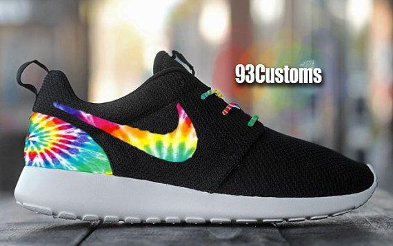 Nike Roshe Run Custom Tie Dye by 93Customs on Etsy