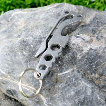 Nieuwe 1 st titanium outdoor edc tool riem clip staart Snake/Opknoping Gesp Sleutel Knop Sleutelhanger Outdoor Pocket Multi EDC gereedschap(China (Mainland))