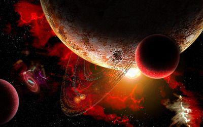 Firey cosmos wallpaper