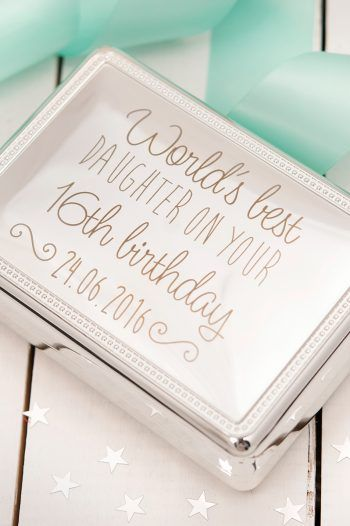 Engraved Silver Rectangular Beaded Jewellery Box 16th Birthday Daughter 220x330 Sweet 16th birthday Gift Ideas
