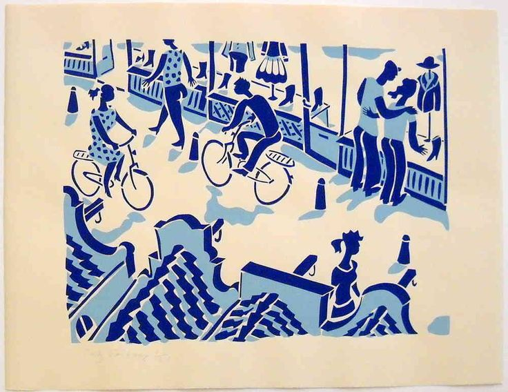 shoppingstreet in Amsterdam - Stencilprint