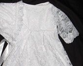 Baptism Dress - Christening Dress - baby girl Christening dress  - Baptism Gown - Christening Gown -  baby bonnet - - Girls Lace Dress-Vestidos bautizo niña bebé