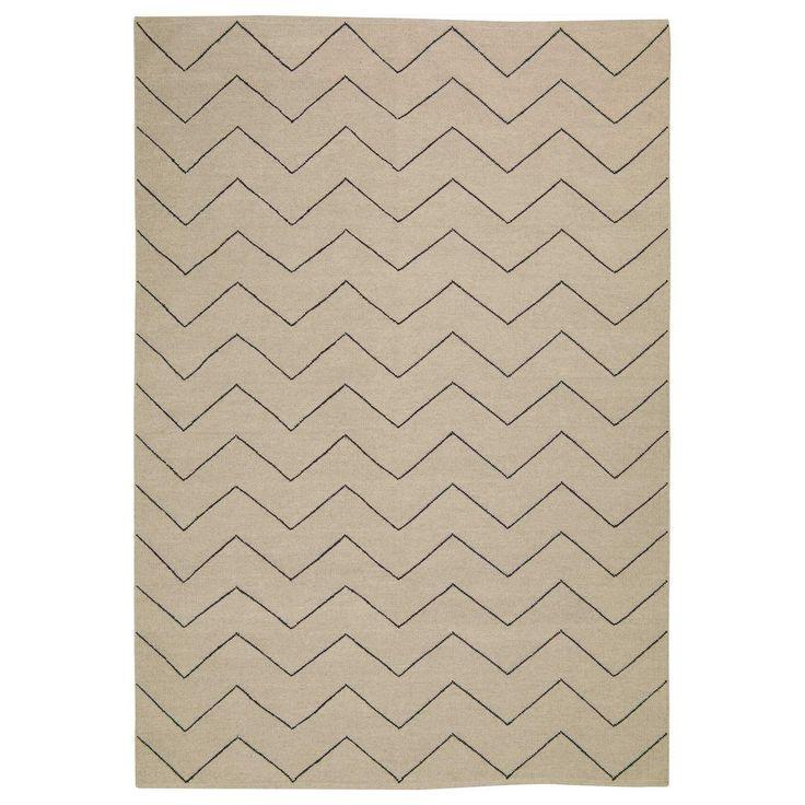 Zigzag teppe 180x270, beige/black i gruppen Tepper / Tepper hos ROOM21.no (131584)