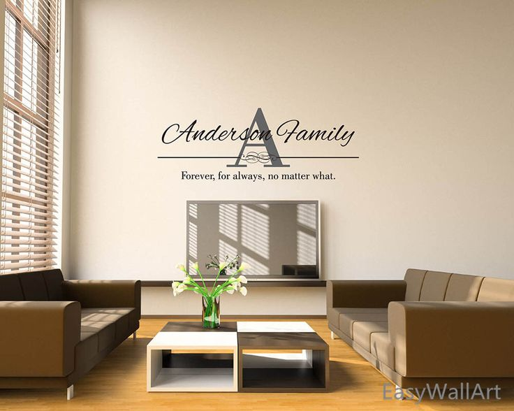Custom Family Name Wall Decal, Family Initial Name Wall Sticker, Monogram Wall Lettering Last Name Wall Decals #C65 by EasyWallArt on Etsy https://www.etsy.com/listing/220201012/custom-family-name-wall-decal-family