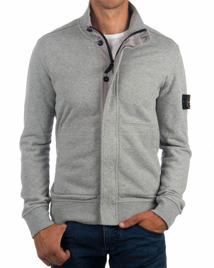 Grey Full Zip STONE ISLAND © Jacket |BEST market PRICE