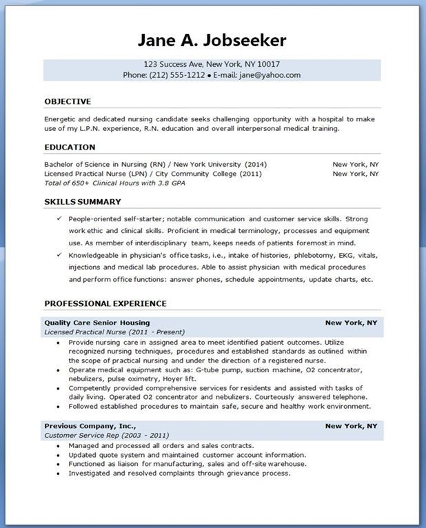 Sample Resume For Nursing Student Resume Downloads Nursing