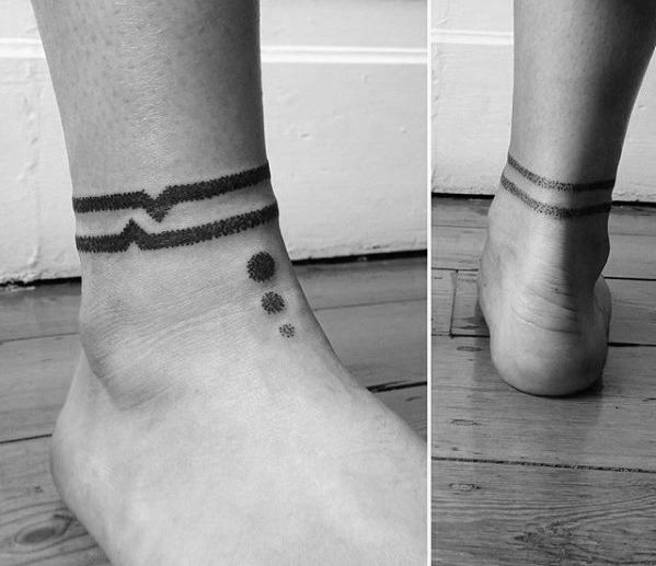 Abstract Geometric Ankle Band Tattoos For Gentlemen