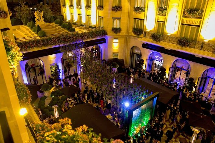 A room with a view @Four Seasons Hotel George V Paris @Four Seasons Hotels and Resorts for Elie Saab's Fashion Week party in our Marble Courtyard
