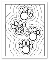 coloring pages peace love - photo#24